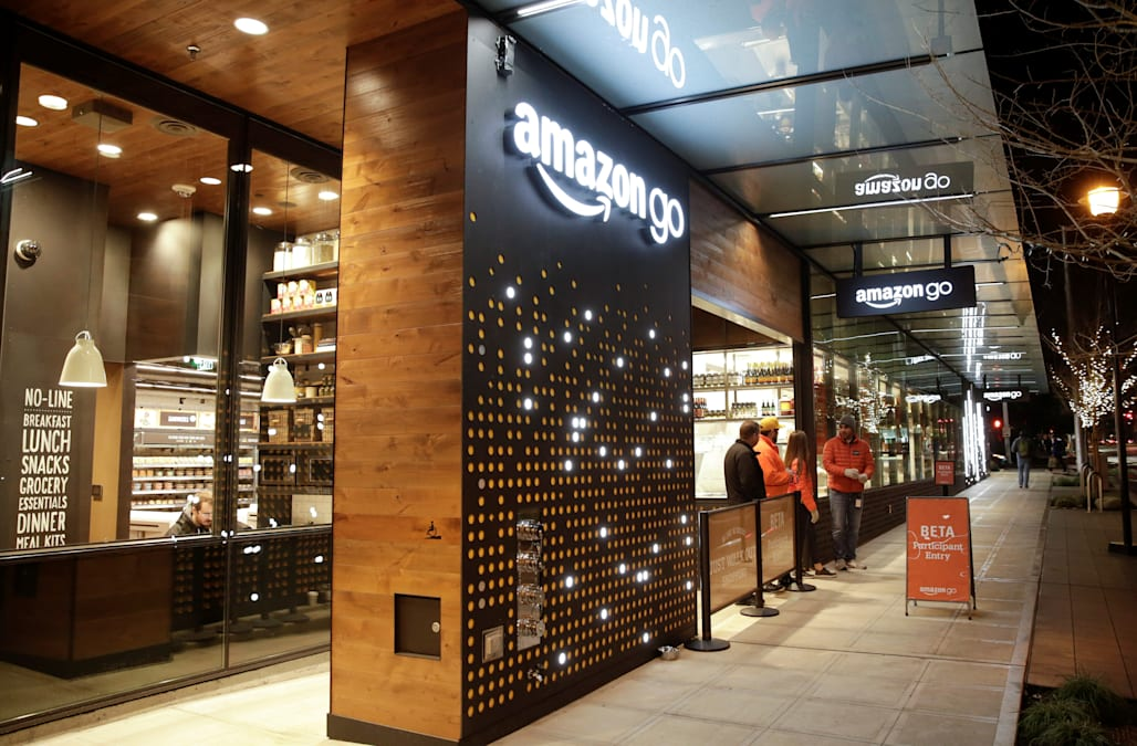 Amazon's automated grocery store of the future opens Monday - AOL