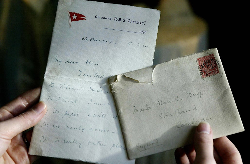 Titanic victimu0027s letter up for auction Titanic