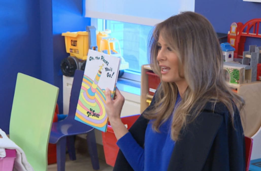 Image result for melania trump read dr seuss massachusetts school refuses