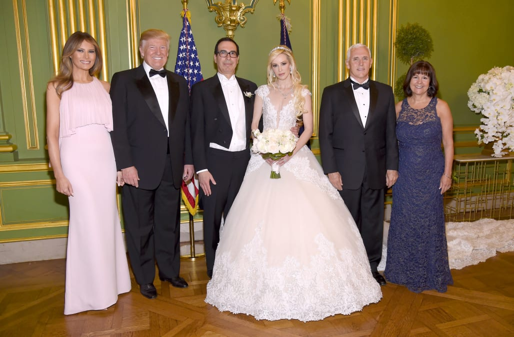inside the extravagant wedding of billionaire treasury secretary steve mnuchin and 36 year old actress louise linton - Stephen Curry Wedding Ring