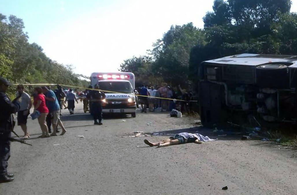 Tour Bus Crash In Mexico