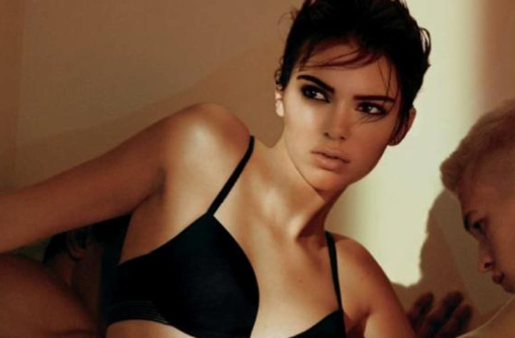 Kendall Jenner joins a wrestling match in her underwear
