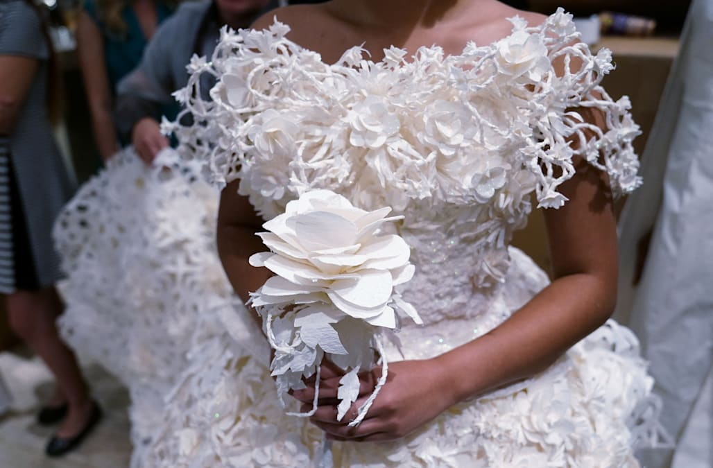 Winning toilet paper gowns offered to brides-in-need - AOL Lifestyle