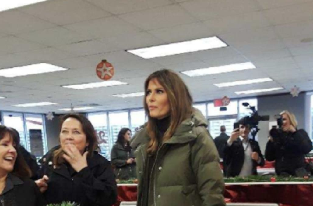 First Lady Melania Trump gets her fast food fix at