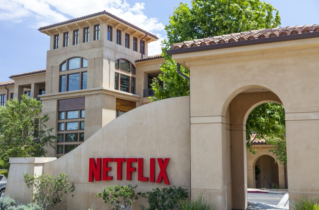 netflix is slipping ahead of its earnings report