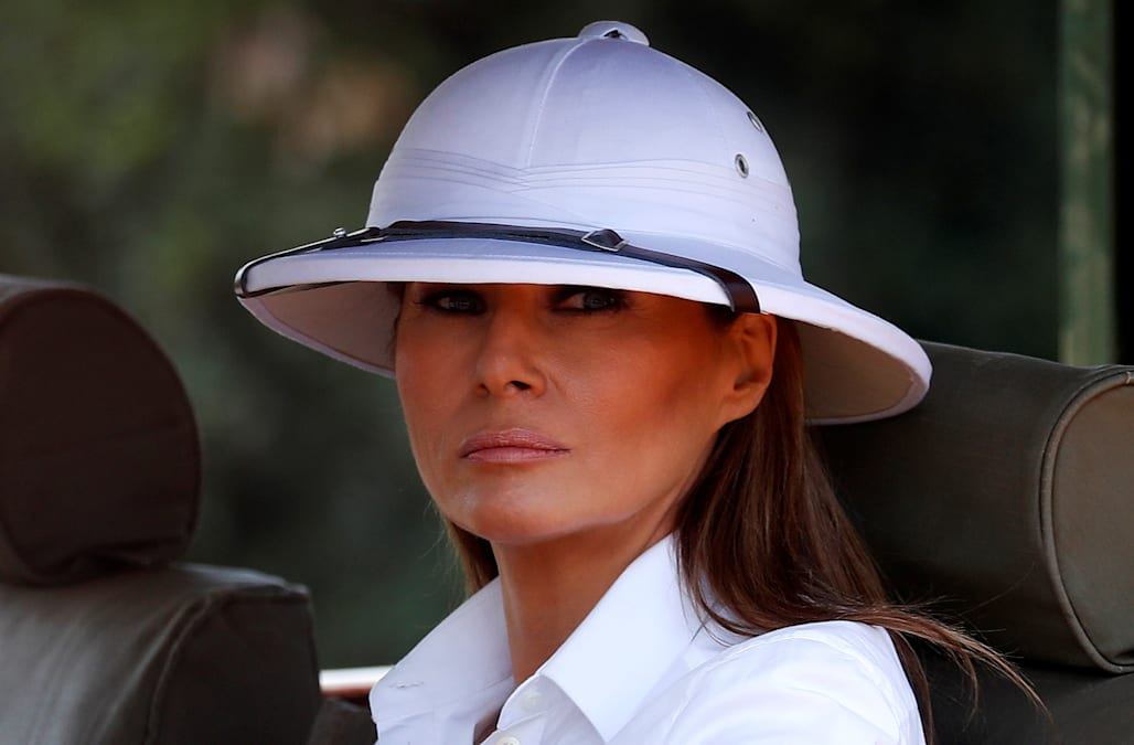 059c90d291e0d2 Melania Trump responds to helmet flap: 'Focus on what I do, not what I wear'