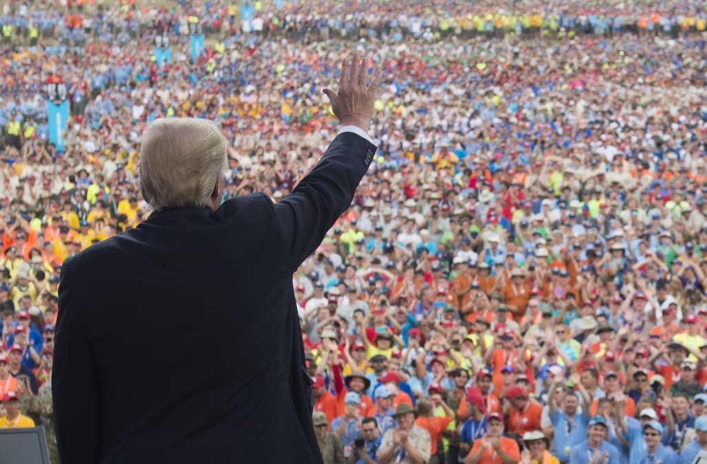 Image result for photos of trump boy scouts