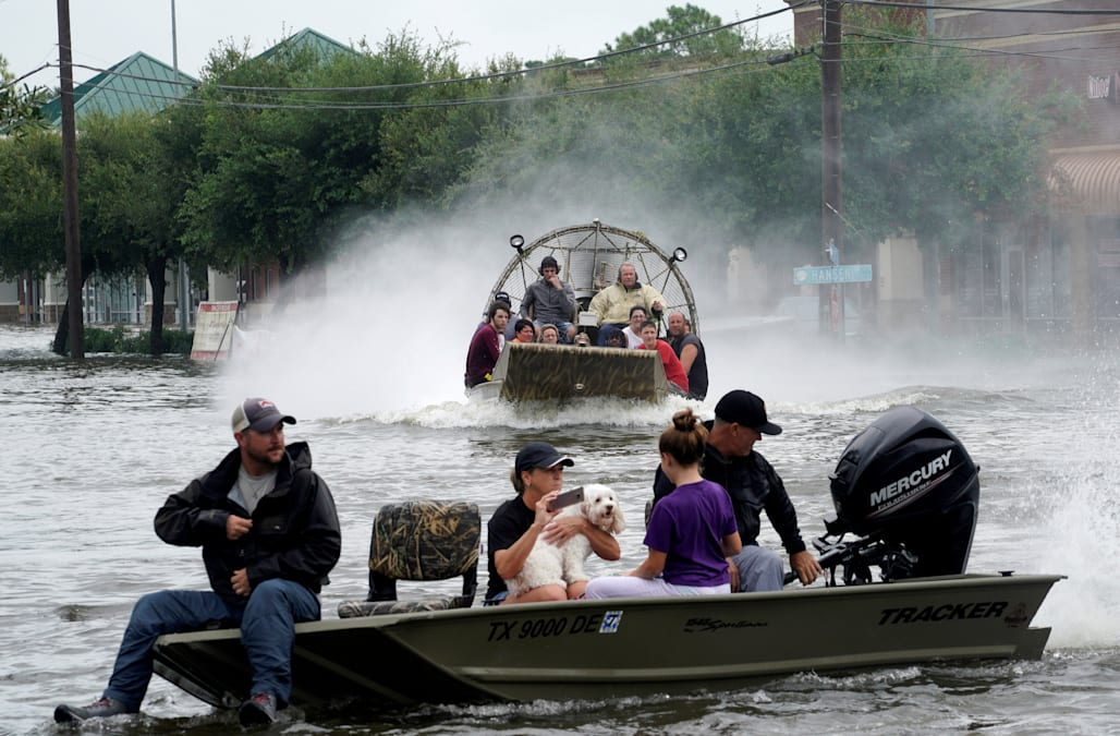 Cajun Navy Joins Rescue Efforts In Texas As Hurricane