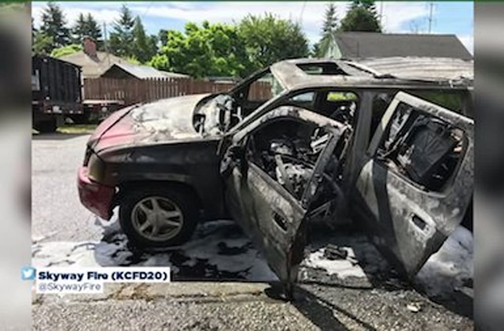 Year Old Sets Mom S Suv On Fire After Taking It To Buy