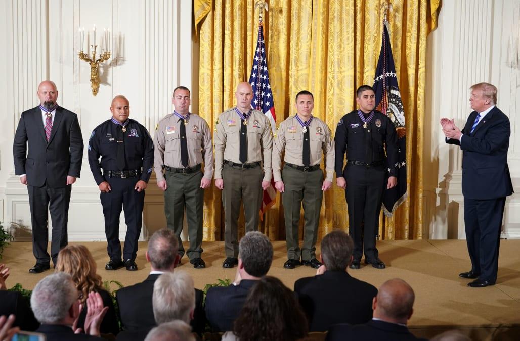 Trump honors San Bernardino terror responders with Medal of