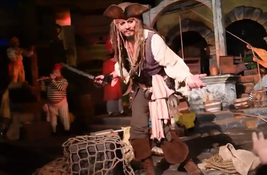 johnny depp makes surprise appearance on pirates of the caribbean