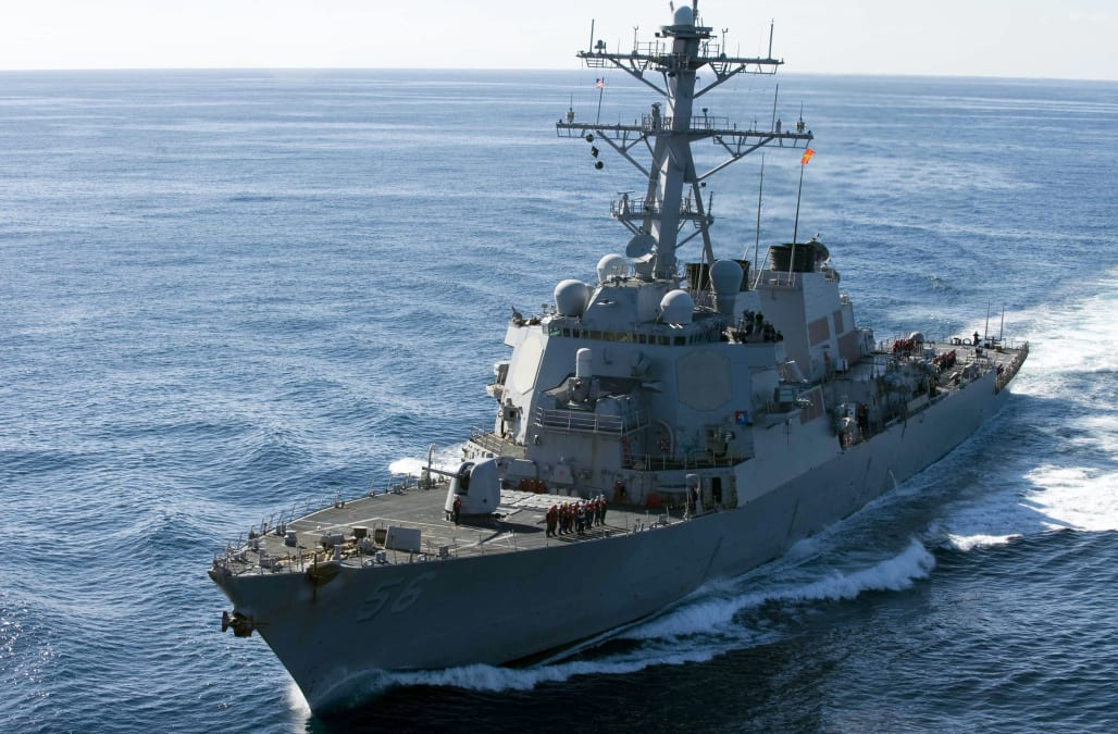 Ten sailors missing after US warship, tanker collide near Singapore