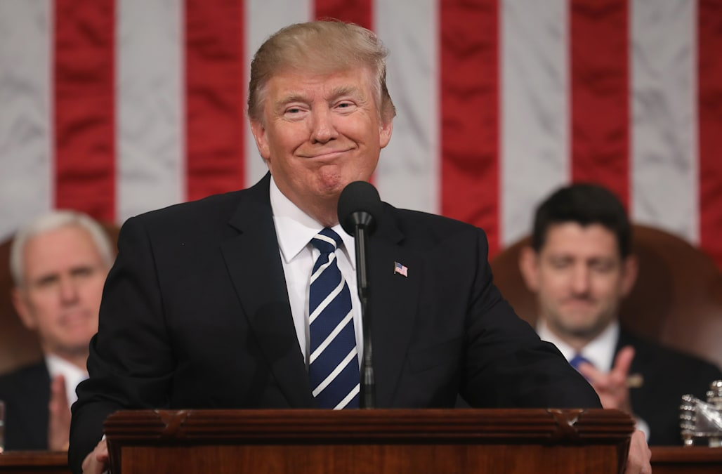 9fb5c6283 The president's new clothes: Trump's suits get a makeover for first speech  to Congress