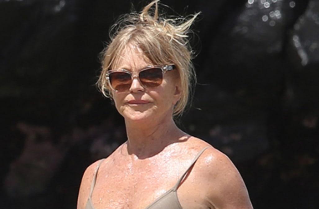 Goldie Hawn, 70, flaunts flawless beach body in nude swimsuit