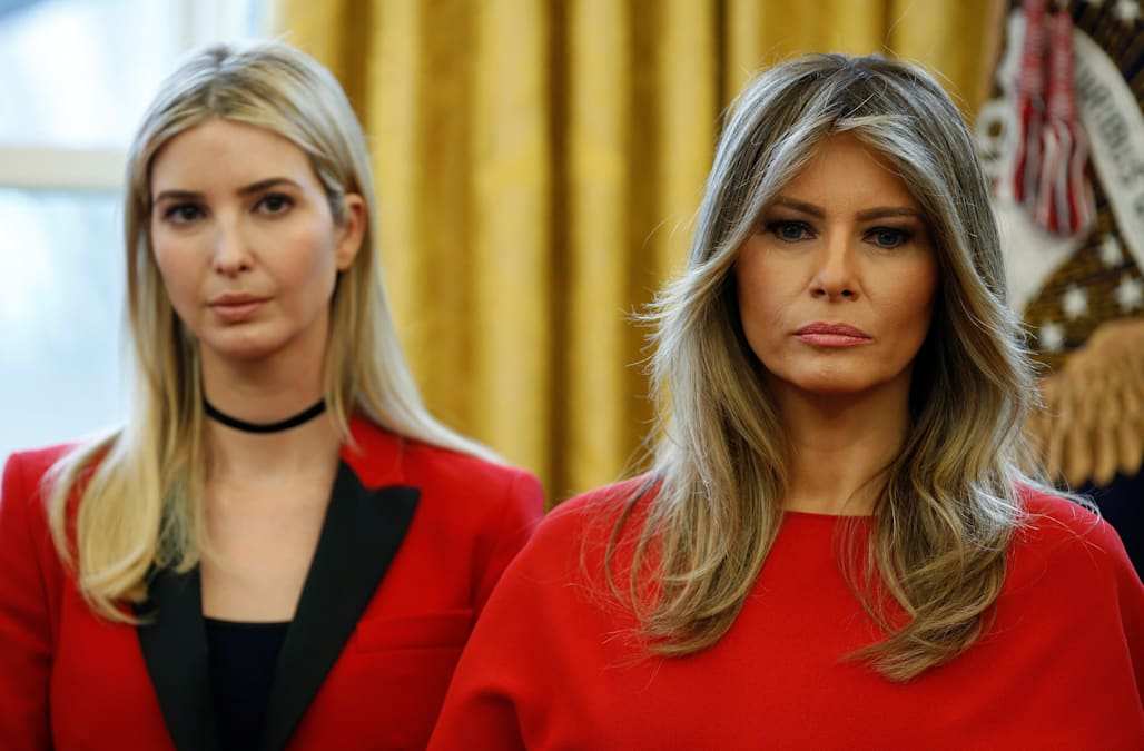 Image result for Melania and Ivanka Trump showed the world what feminine power looks like