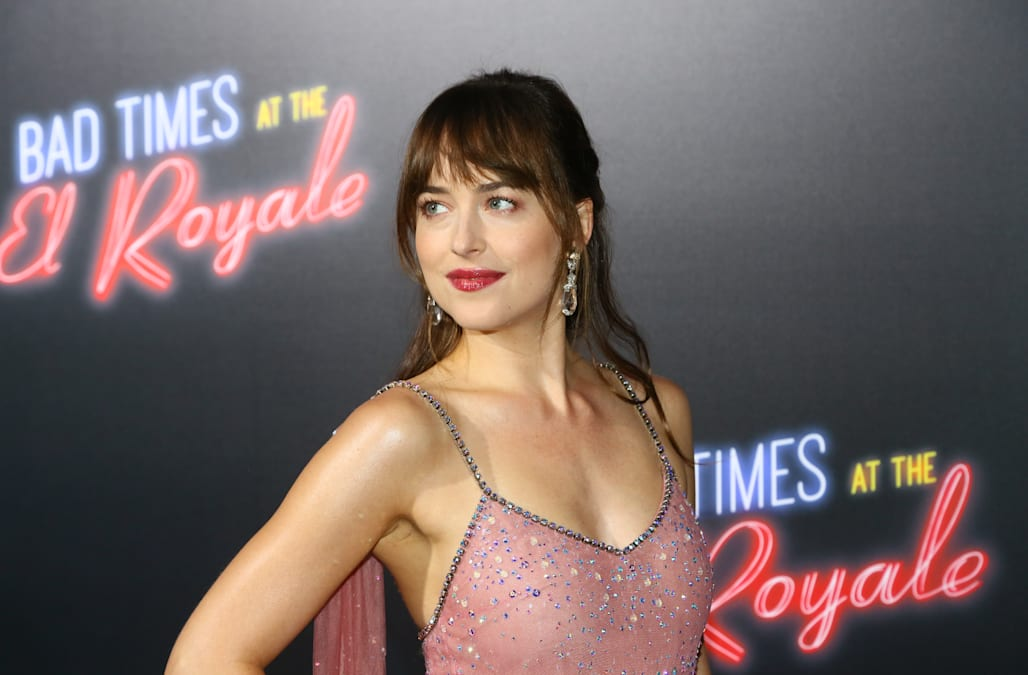 Dakota Johnsons Complete Style Transformation From Spaghetti Strap Tops To Sparkly Gowns