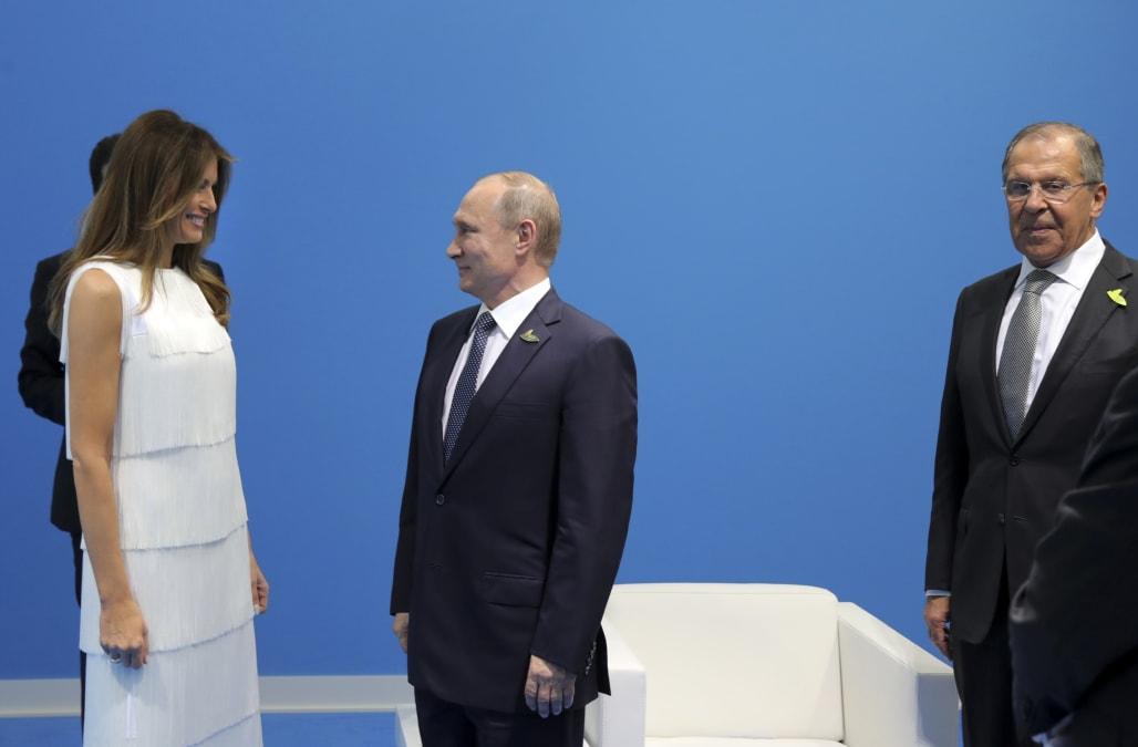 First lady Melania Trump reportedly sent into Trump-Putin ...