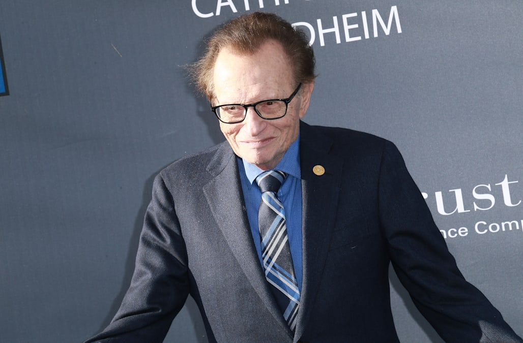 Larry King shares a photo of his two sons Chance and Connor