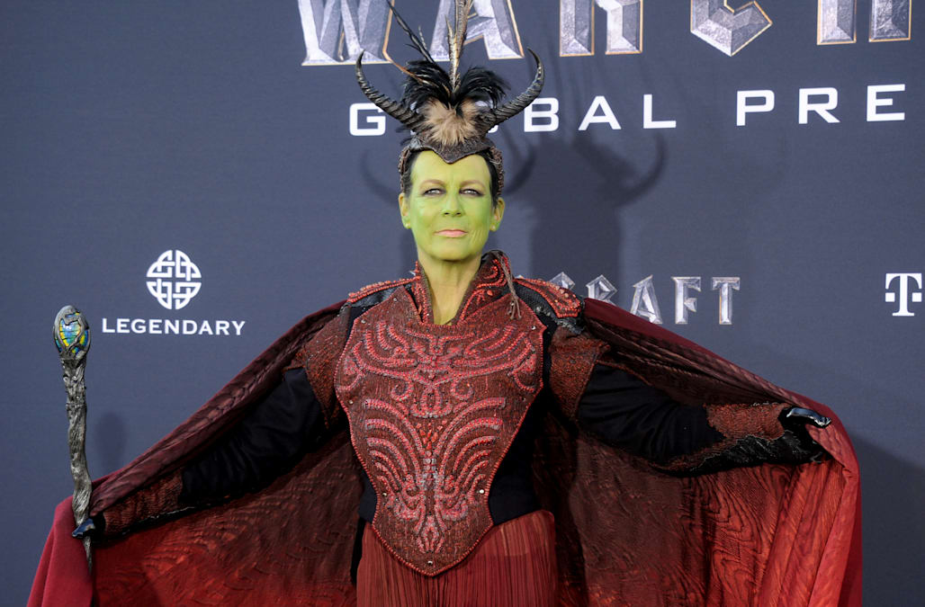 EXCLUSIVE Jamie Lee Curtis and son cosplay at \u0027Warcraft