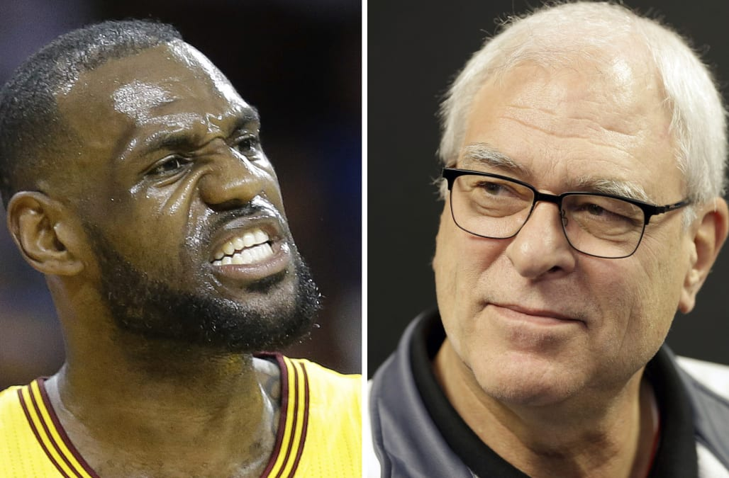 9294cdddf64 LeBron James and his business partner Maverick Carter lashed out at Phil  Jackson for comment about LeBron s  posse