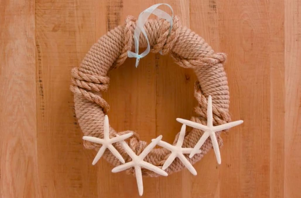 how to make rope wreath