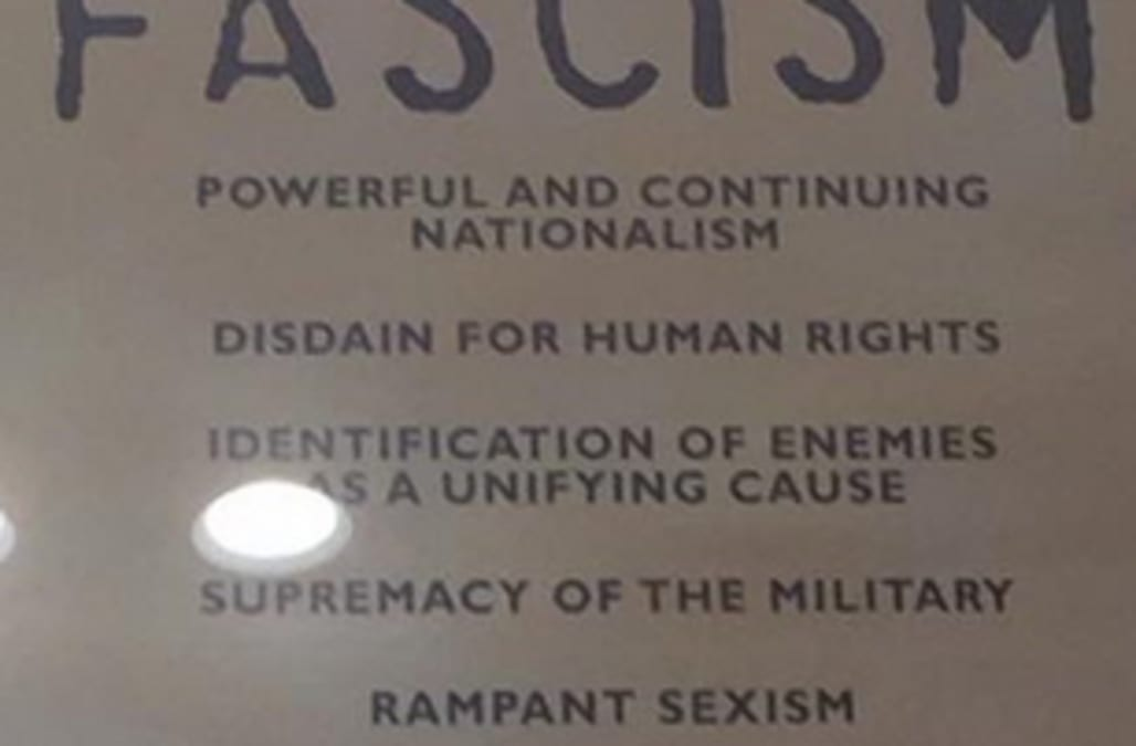 Us Holocaust Museums Sign About Fascism Goes Viral Aol News