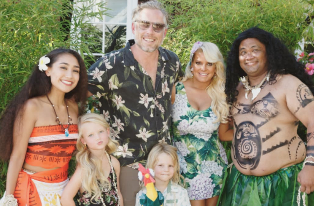 Jessica Simpson Throws An Awesome Moana Themed Party For