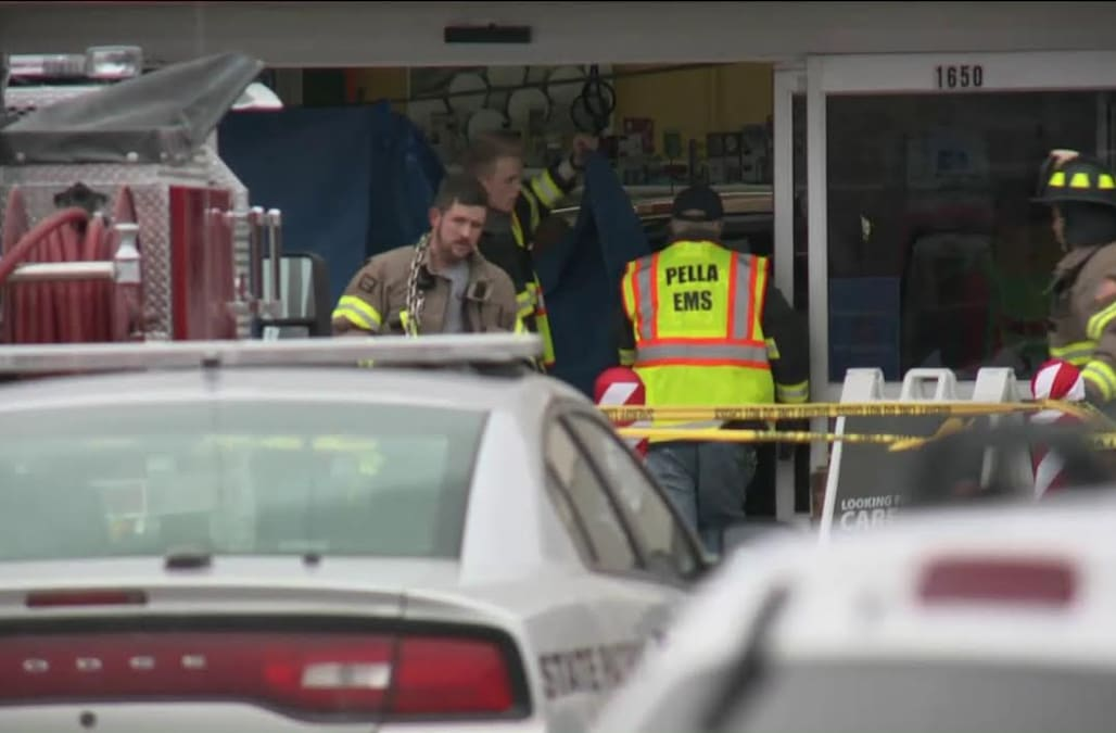 PELLA, Iowa (WHO) -- Officials with the Iowa State Patrol say three people were killed and two were injured when a pickup truck barreled through the front ...