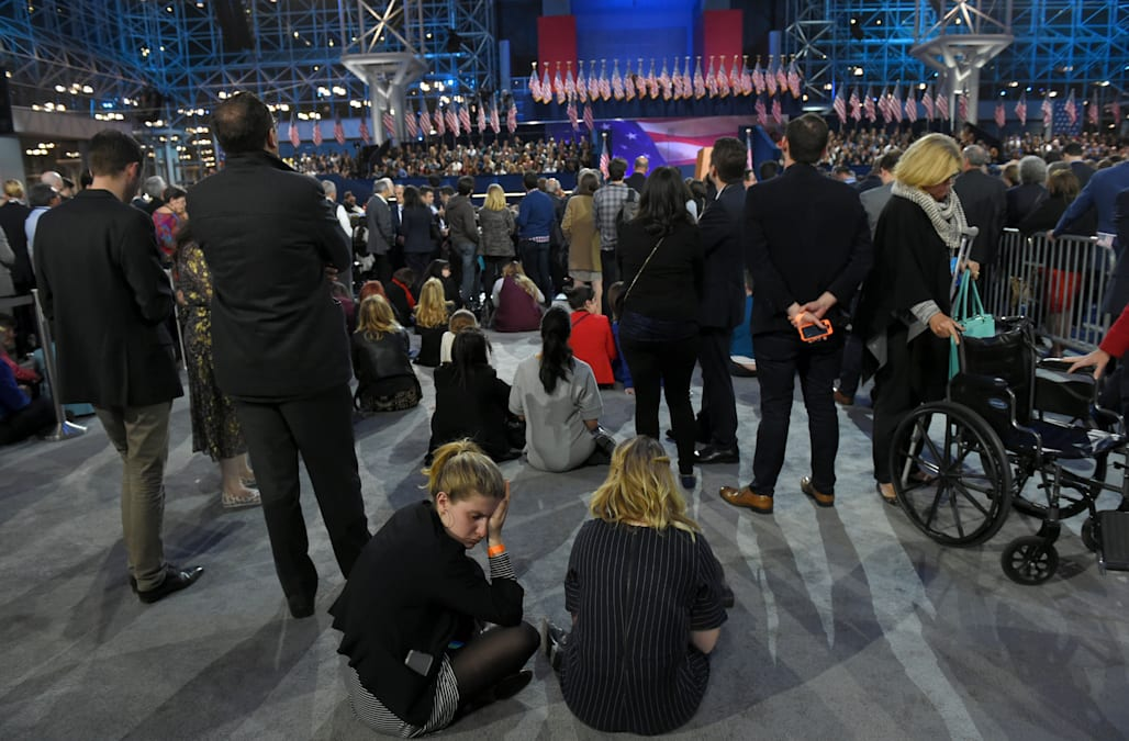 A look inside Clinton's headquarters on election night ...