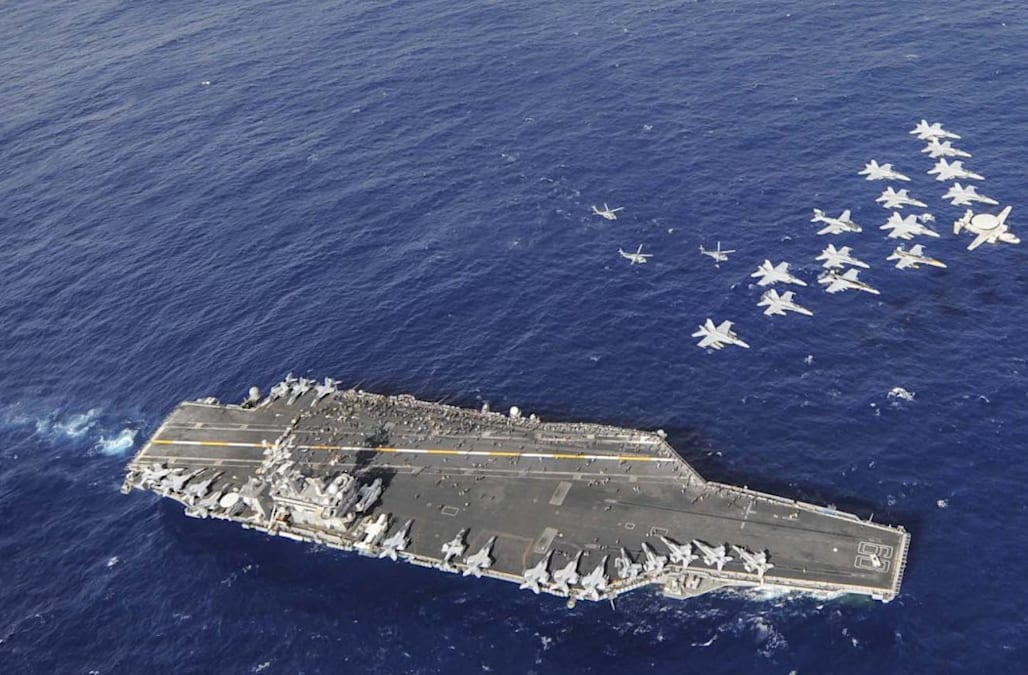 US Aircraft Carriers Are At Sea For The First Time In Years - Us aircraft carriers deployment map