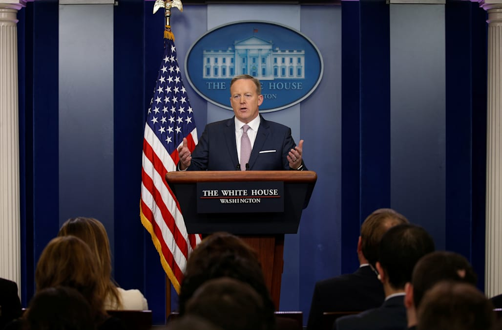 1b8f12cbc1c1 Press Secretary Sean Spicer is set to hold a conference in the White House  Briefing Room for the third straight day, where he will take questions from  the ...