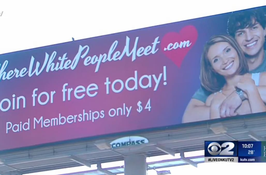 white racist dating site
