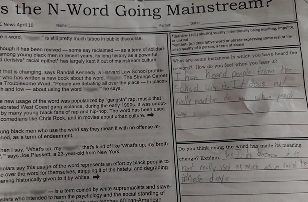Parents shocked over language used in To Kill a Mockingbird – To Kill a Mockingbird Worksheets