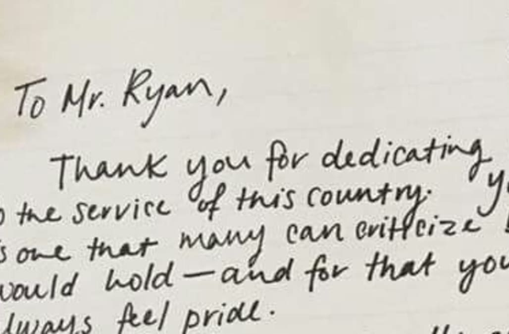 Paul Ryan allegedly handed powerful letter by anonymous woman on ...