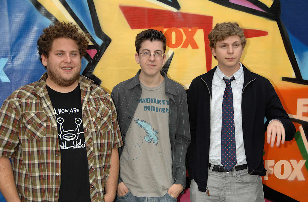 the cast of superbad actors jonah hill christopher mintzplasse and picture id529341628 - Superbad Halloween Costumes