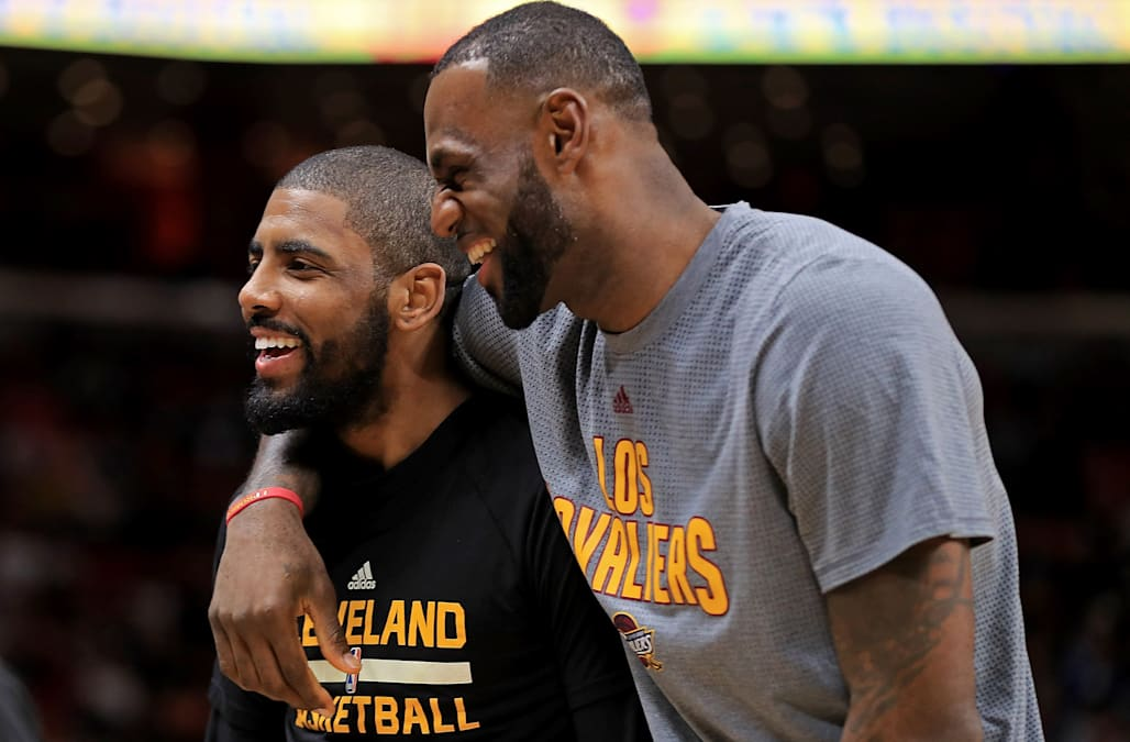 c857aea9578 Kyrie Irving on why he didn't talk to LeBron James when he requested a  trade from Cleveland: 'Why would I have to?'