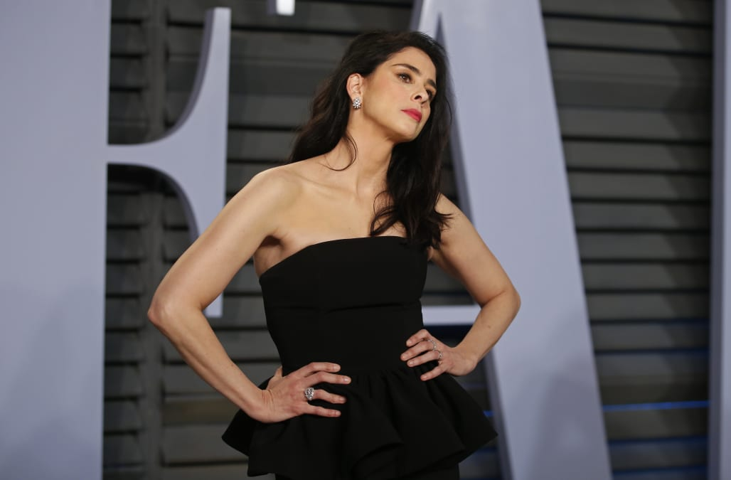 Sarah Silvermans Not Too Glam To Do A Pit Check On The Red Carpet