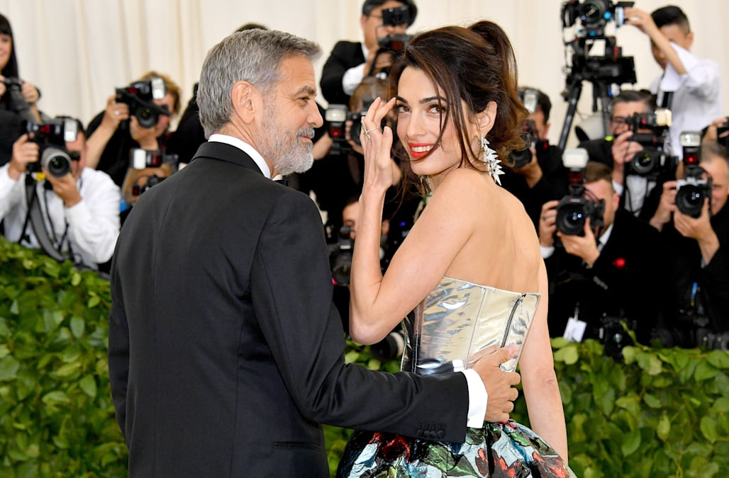 fcba7a29 George Clooney jokes their twins are under Amal's outfit at Met Gala ...