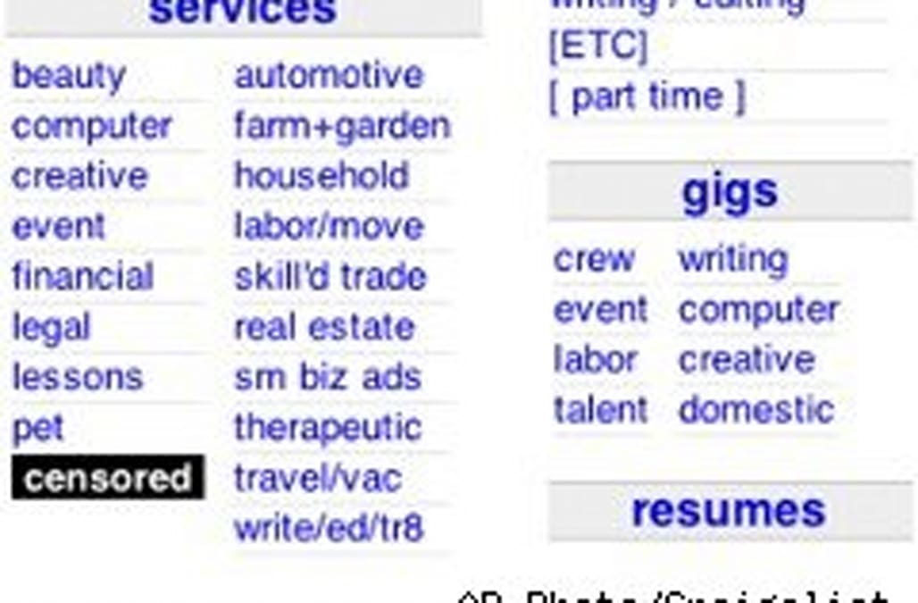 Craigslist Censors Its 'Adult Services' Listings: Refunds on the Way