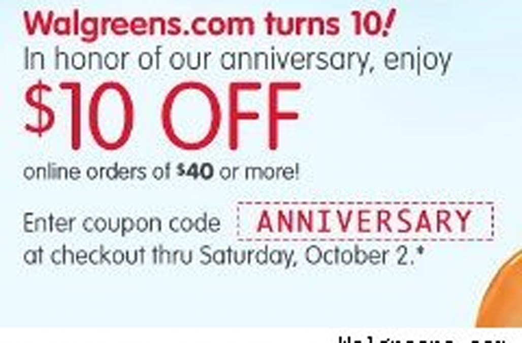 Walgreens Coupon For 10 Off 40 Aol Finance