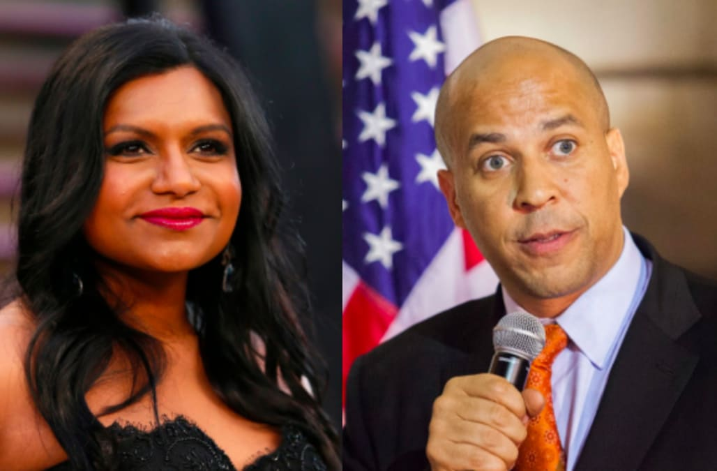 Mindy Kaling says yes to dinner with Sen. Cory Booker