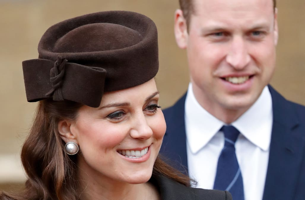 Duchess Kate flaunts blossoming baby bump in Catherine Walker coat on Easter
