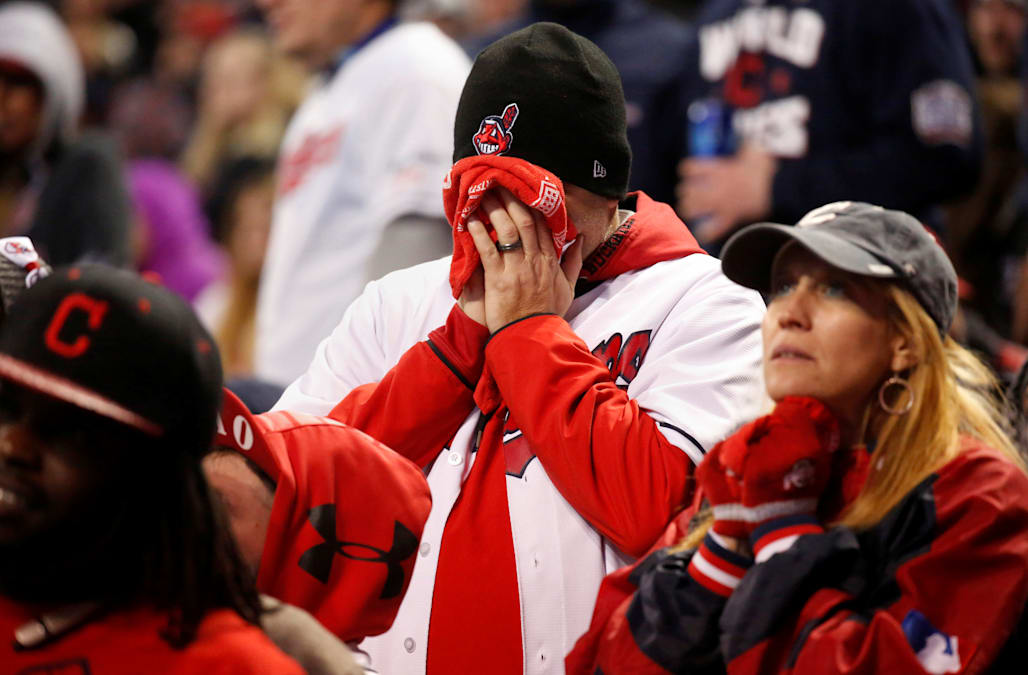 Cleveland indians fans had their hearts broken and we have photographic evidence aol news - Cleveland indians pictures ...