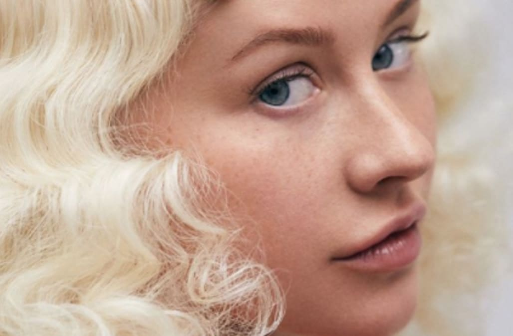 Christina aguilera bares breasts can recommend
