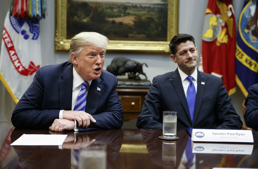 President trump ditched paul ryan mid oval office meeting to watch