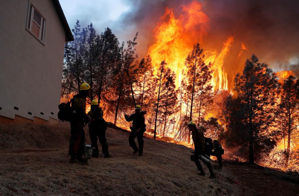 Image result for Late Season California Fire Erupts Near Chico, California