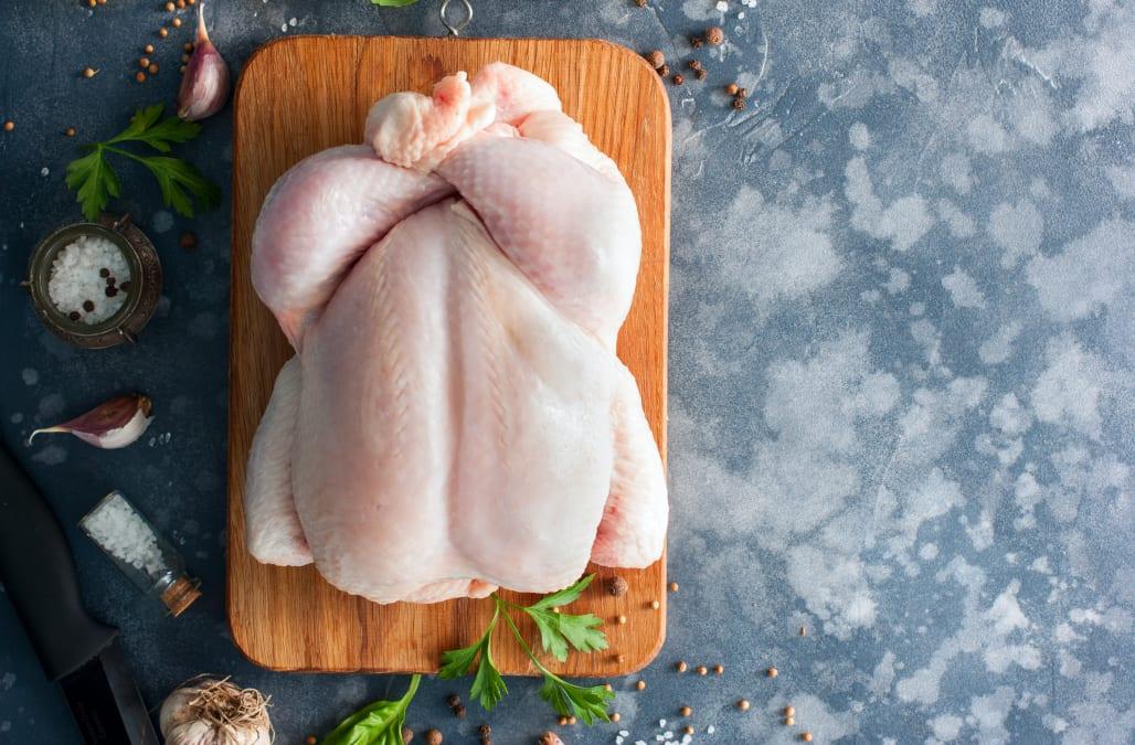Washing raw chicken won't clean it - it may make you sick