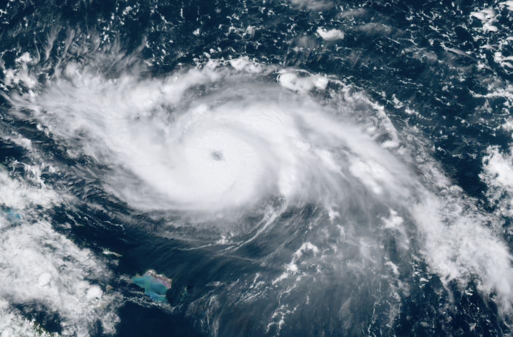 Fierce Category 4 Dorian strengthens en route to Bahamas
