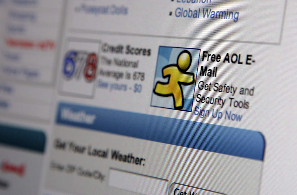 A look back at AOL's website through the years