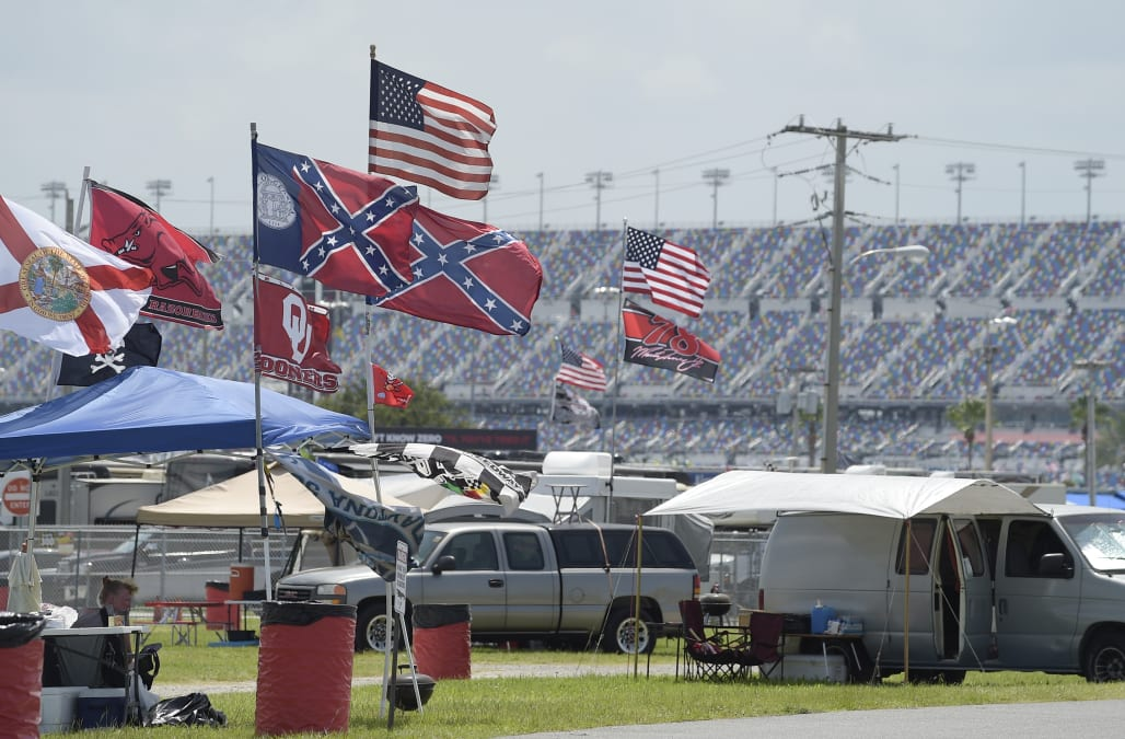 NASCAR bans fans from displaying Confederate flag at racetracks